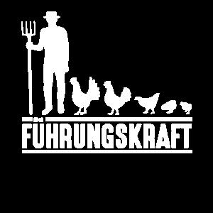 Huhn Bauer Landwirt Führungskraft