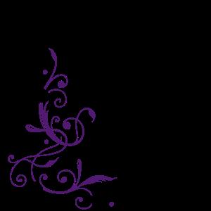Blumen mit Notenschlüssel und Musiknoten, clef