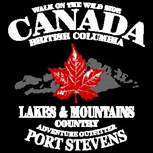 Canada - Maple Leaf & Mountain