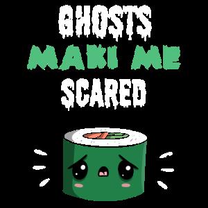 Sushi Maki Geister Halloween Geschenk