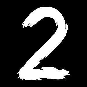 Zahl 2 Bürste