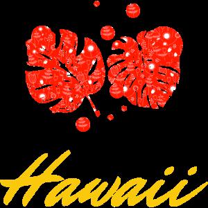 Palmblätter Hawaii gold