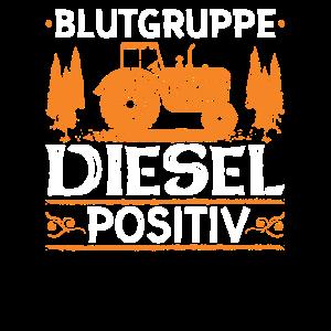 Blutgruppe Diesel Positiv Traktor Trecker