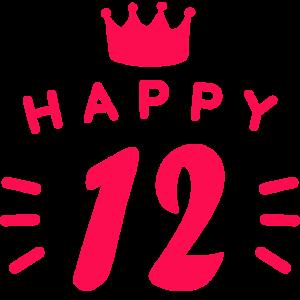 12. Geburtstag 12 Jahre alt Happy Birthday Spruch