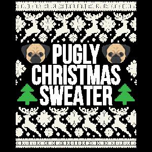 Pugly Weihnachtsstrickjacke