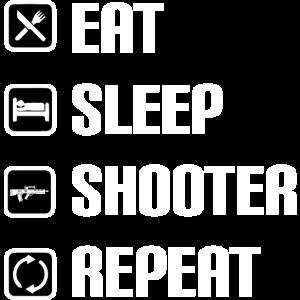 Eat Sleep Shooter Repeat Geschenk