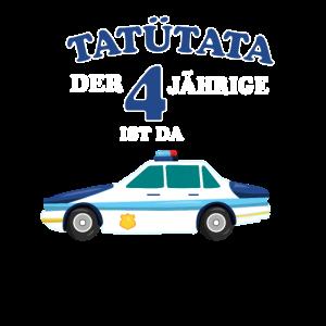 4.Geburtstag Polizeiauto 4 Jahre alt Geschenk