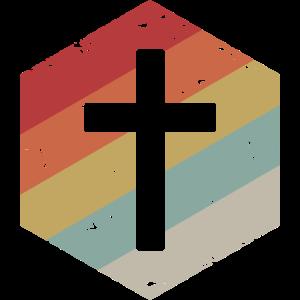Retro Cross Jesus Geschenk Design