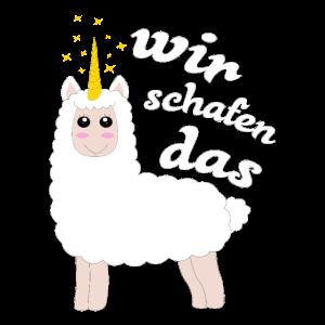 Wir schafen das Schaf Lamm