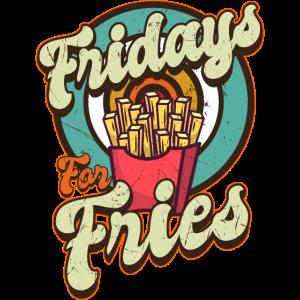 FRIDAYS For FRIES Mit Retro Pommes Tüte Imbissbude