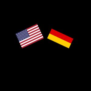 Deutschland USA Amerika Flagge Fahne Freundschaft