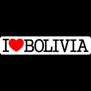 Ich liebe Bolivien-Hintergrundweiß