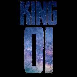 Partnerlook King Queen 01 Galaxie Geschenk