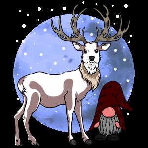 Weihnachten Nikolaus Renntier Rudolf Xmas