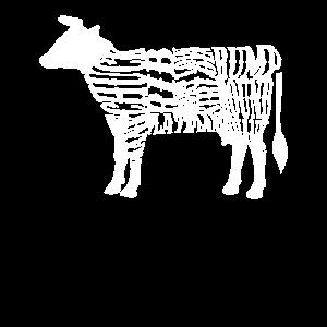 Coole Kuh Fleischstücke