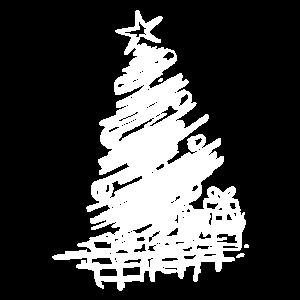 weiser weihnachtsbaum mit geschenken und weihnacht