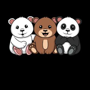 3 Bears 3 Bären Eisbär Bär Panda