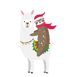 Faultier¨Lama Weihnachten