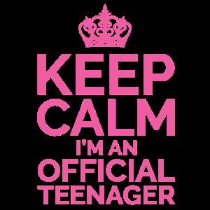 Keep Calm I'm An Official Teenager