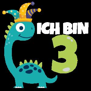 3. Geburtstag Dinosaurier 3 Jahre Kostüm Geschenk