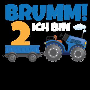 Ich bin 2 Traktor 2. Geburtstag Bauer 2 Jahre Kind