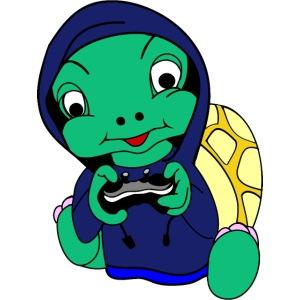Hoodie gamer schildpad