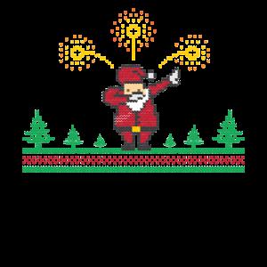 Dabbing Santa Claus Ugly christmas Weihnachten
