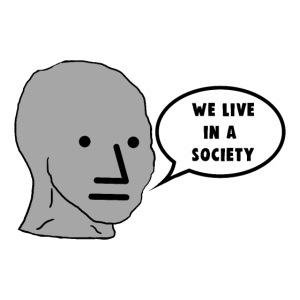 NPC We Live in a Society Meme
