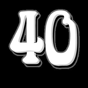 40 zum 40. Geburtstag im Retro Look