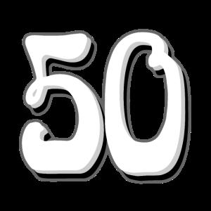 50 zum 50. Geburtstag T-Shirt