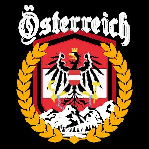 Österreich Flagge Adler Austria Geschenk Berge