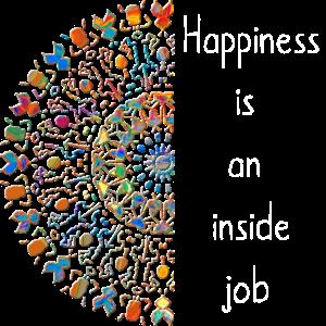 """Happiness is an inside job"" Mandala tribal zart 2"