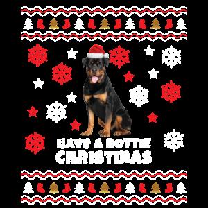 Rottweiler Hässliche Weihnacht
