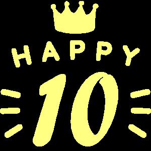 10. Geburtstag 10 Jahre alt Happy Birthday Spruch