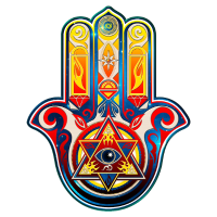 Hamsa Hand, Fatima, Symbol, Auge, Pyramide, Khamsa