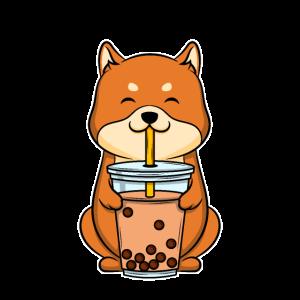 Bubble Tea Shiba Inu Bubbles Tee Hund Welpen Geschenk