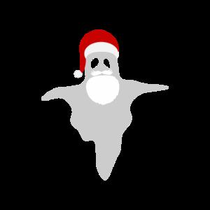 Santa als Geist mit Weihnachtsmütze