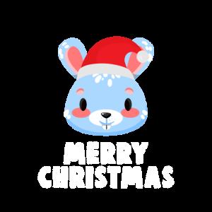 Hase mit Weihnachstmütze