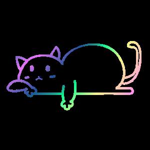 Katze regenbogen