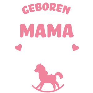 Mama Geboren Um Zu Reiten Baby Strampler Pferd