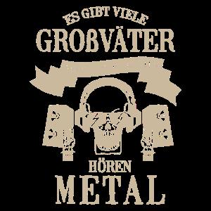Großvater Opa Heavy Metal Hard Rock Musik Geschenk