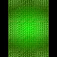 Binärcode auf Grünverlauf