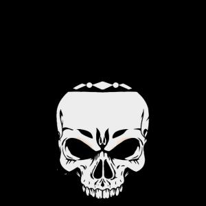 Schädel Totenkopf Tattoo Horror Gothic Grufti