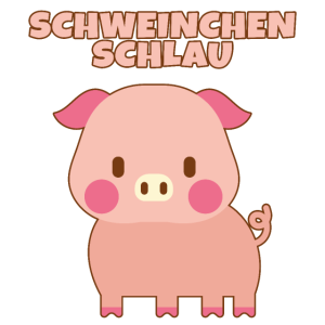 Schweinchen Schlau, ein rosa Schwein