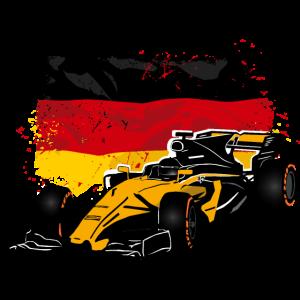 Racecar - Rennauto - Germany Flag