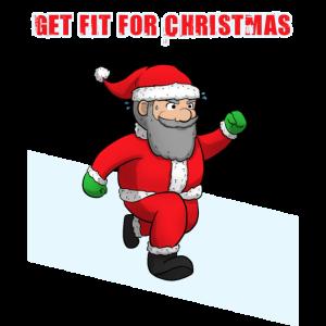 Weihnachtsmann Weihnachten Fitness Geschenkidee