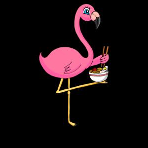 Kawaii Flamingo Ramen Nudeln