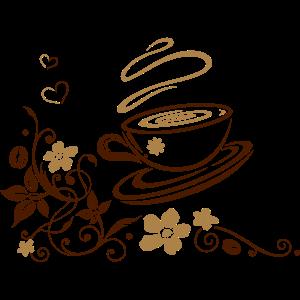 Kaffeetasse mit Blumen Ornament