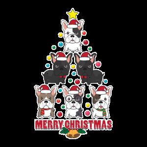 Französische Bulldogge Weihnachtsbaum Geschenk
