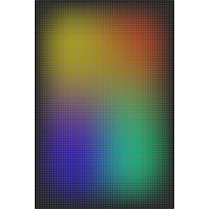 Punktraster auf Farbverlauf